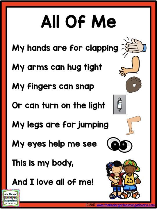 kindergarten human body lessons